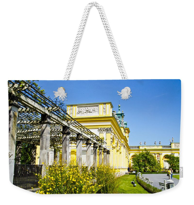 Wilanow Palace Weekender Tote Bag featuring the photograph Garden Entry Wilanow Palace - Warsaw by Jon Berghoff