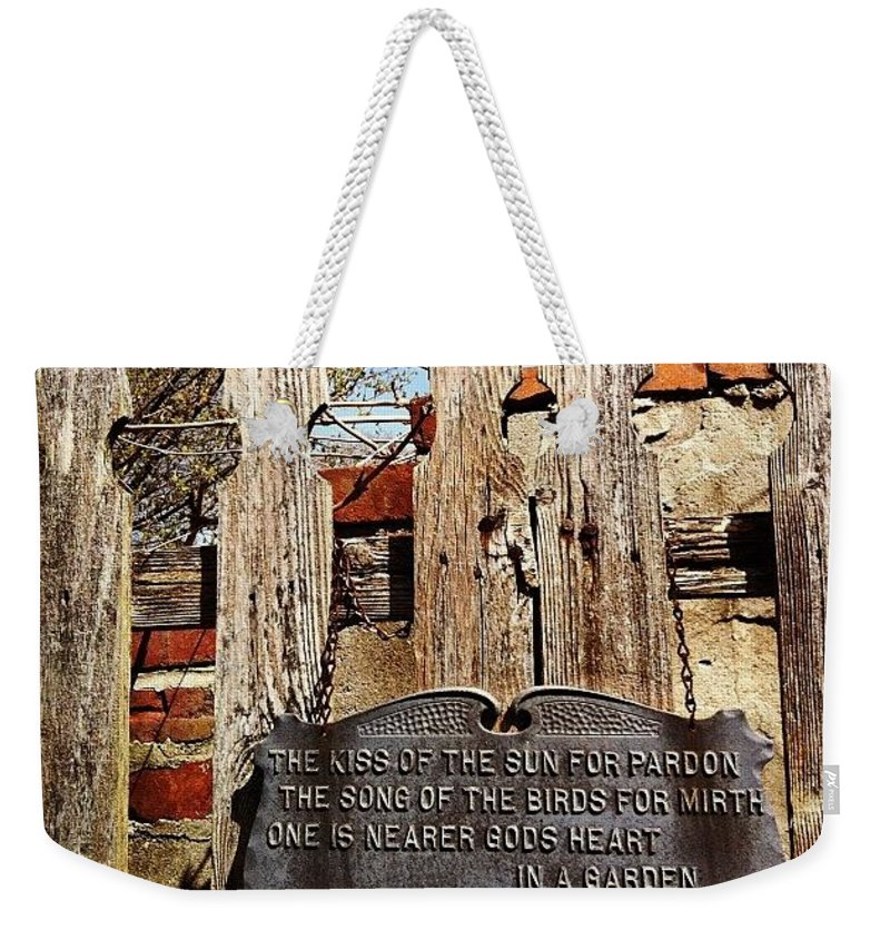 Tree Weekender Tote Bag featuring the photograph Garden in Philadelphia by Katie Cupcakes