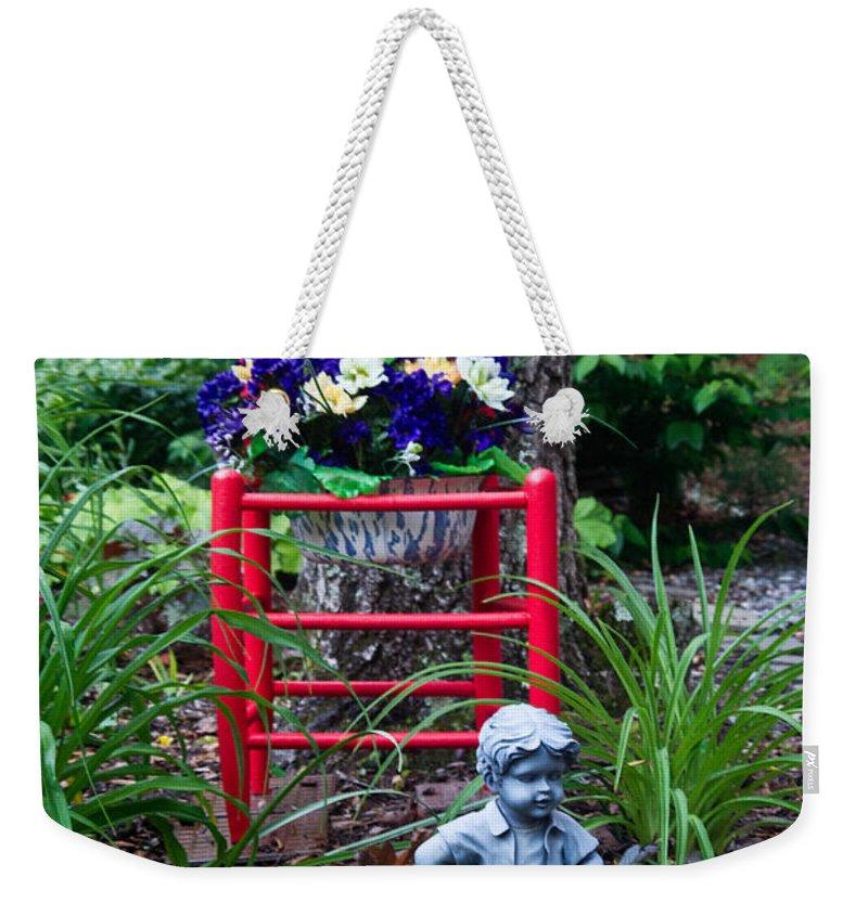 Garden Weekender Tote Bag featuring the photograph Garden Stil Llife 1 by Douglas Barnett
