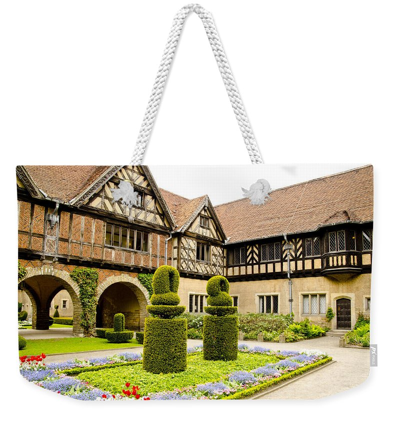 Neuer Garten Weekender Tote Bag featuring the photograph Gardens At Cecilienhof Palace by Jon Berghoff