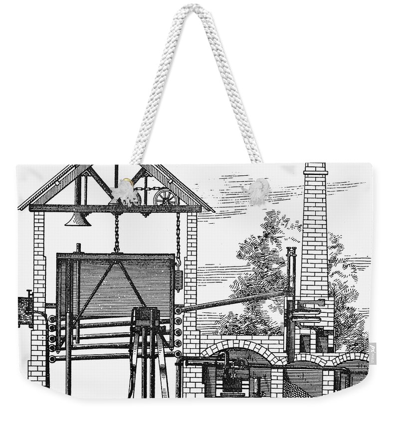1815 Weekender Tote Bag featuring the photograph Gas Works, 1815 by Granger