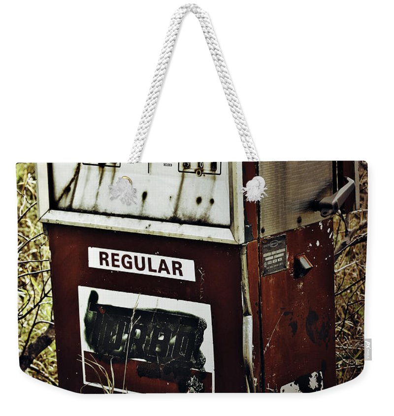 Street Photographer Framed Prints Weekender Tote Bag featuring the photograph Gaspump by The Artist Project