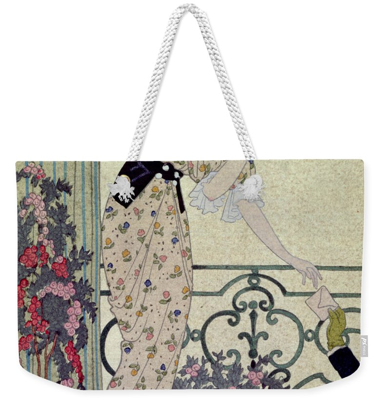 Secret; Love-letter; Admirer Weekender Tote Bag featuring the painting Gazette Du Bon Ton by Georges Barbier