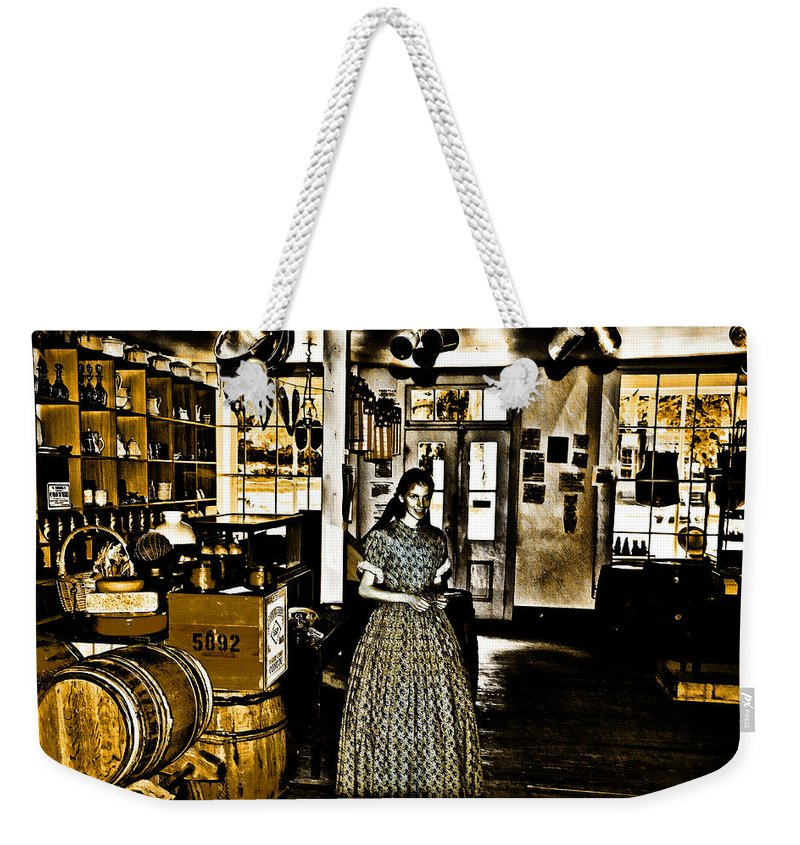 General Store Harpers Ferry Weekender Tote Bag featuring the photograph General Store Harpers Ferry by Bill Cannon