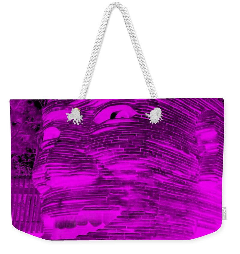 Architecture Weekender Tote Bag featuring the photograph Gentle Giant In Negative Purple by Rob Hans