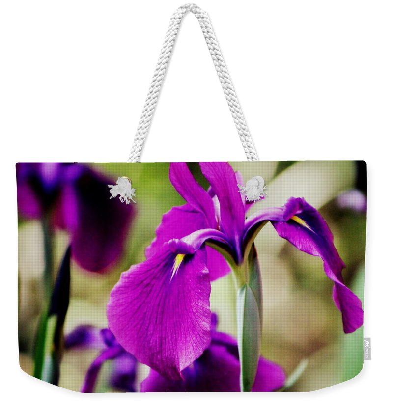 Iris Weekender Tote Bag featuring the photograph Gently Being by Deborah Crew-Johnson