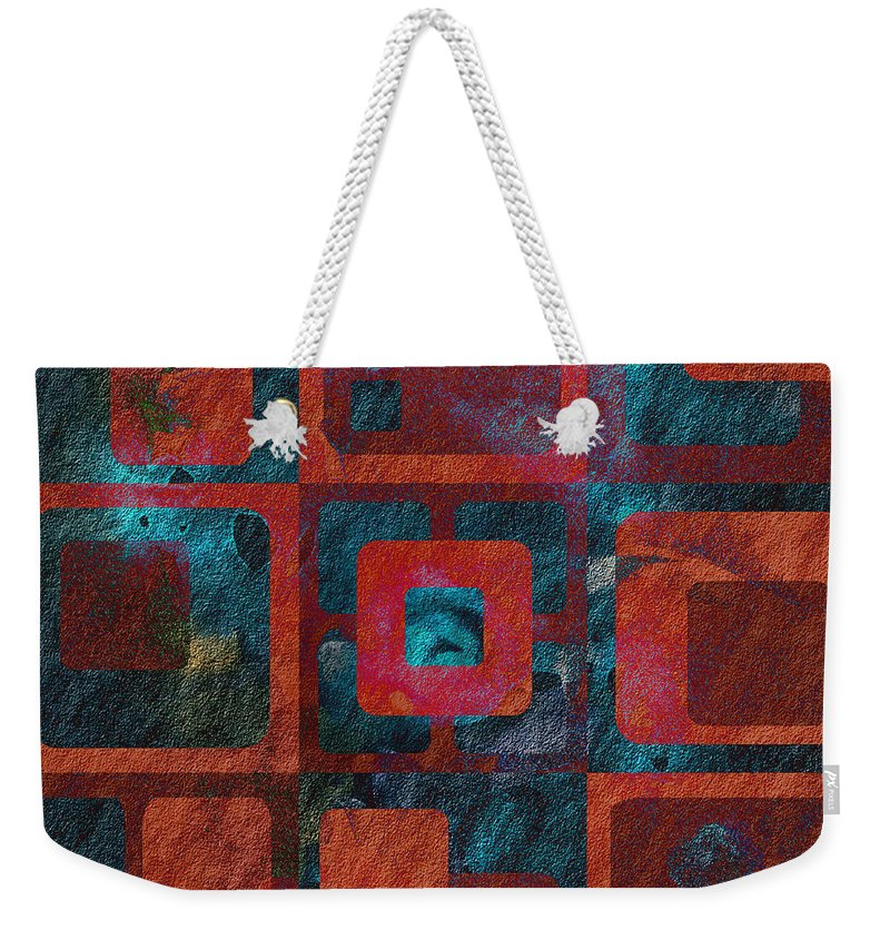 Abstract Weekender Tote Bag featuring the digital art Geomix 02 - Sp07c03b by Variance Collections