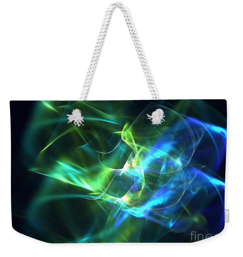 Apophysis Weekender Tote Bag featuring the digital art Geoprism by Kim Sy Ok