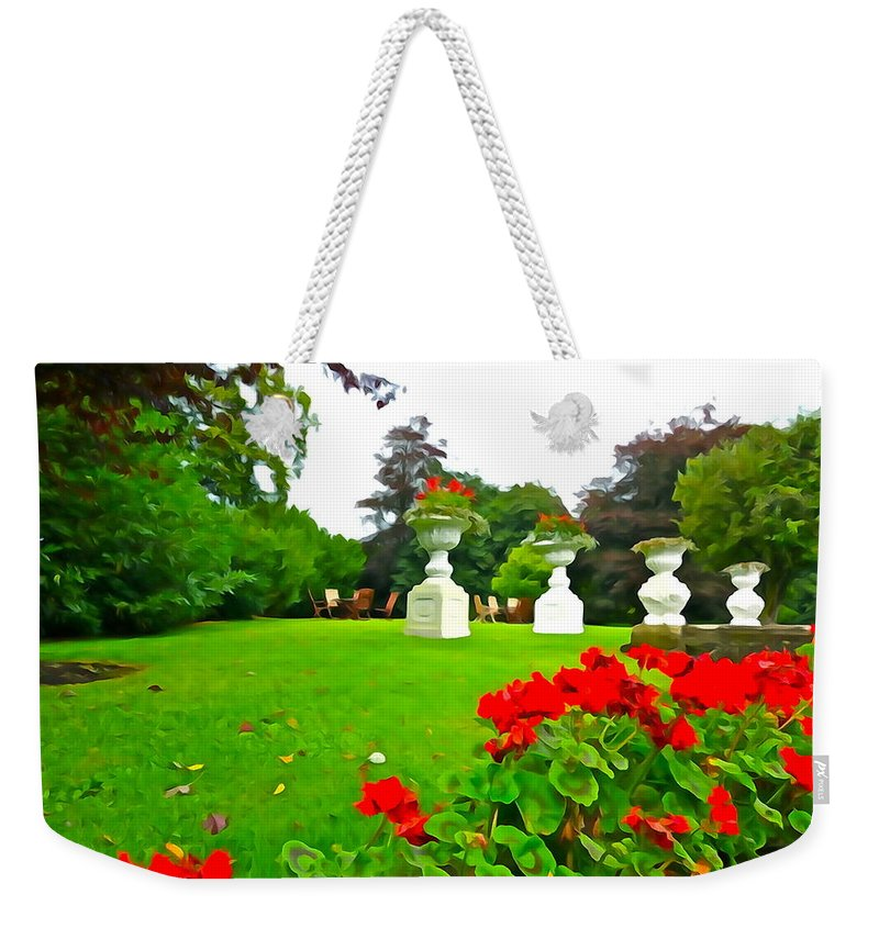 Garden Weekender Tote Bag featuring the photograph Geraniums by Charlie and Norma Brock