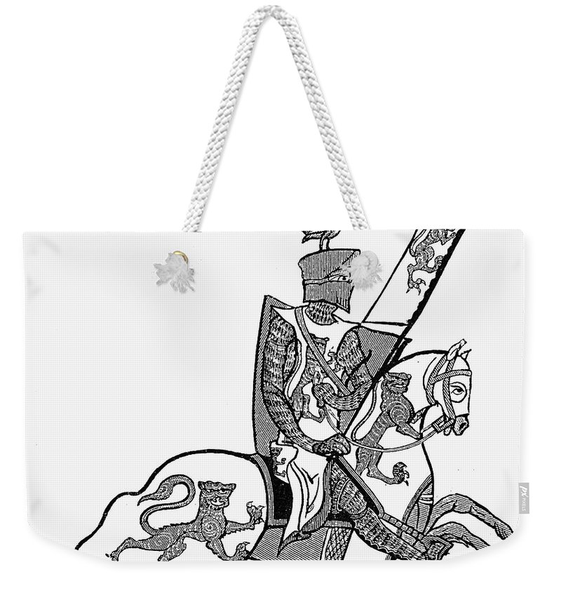 13th Century Weekender Tote Bag featuring the photograph German Knight by Granger