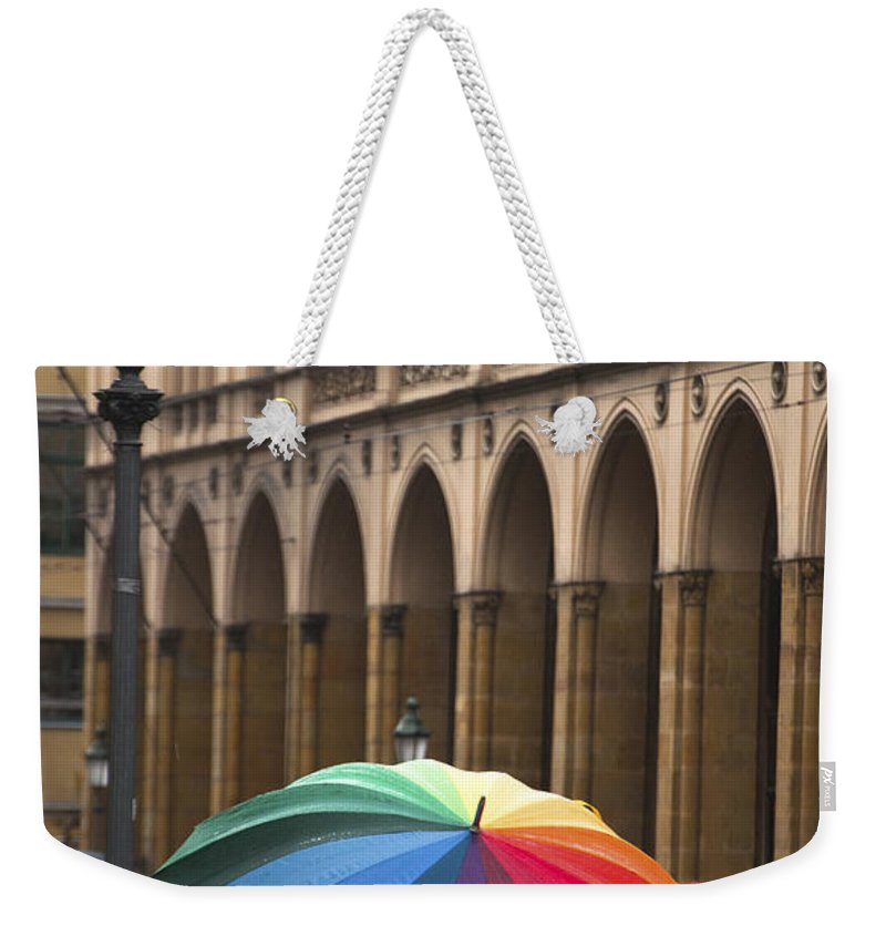 Europe Weekender Tote Bag featuring the photograph German Umbrella by Andrew Michael