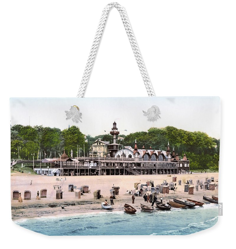1895 Weekender Tote Bag featuring the photograph Germany: Casino, C1895 by Granger