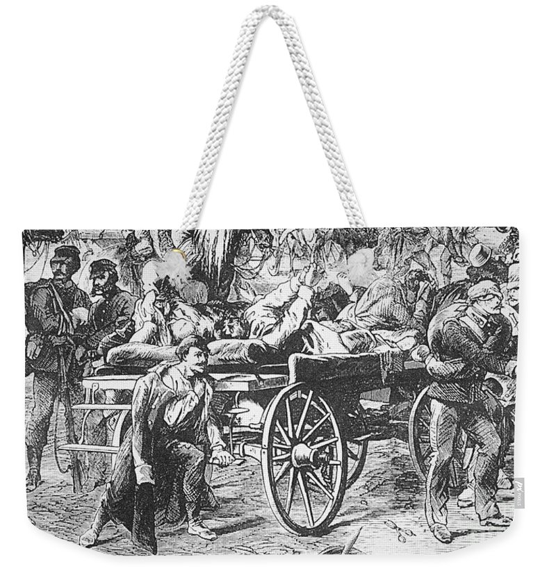 1866 Weekender Tote Bag featuring the photograph Germany: Seven Weeks War by Granger