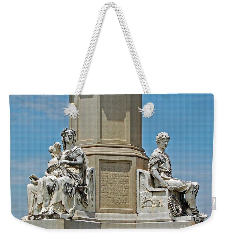 Gettysburg Weekender Tote Bag featuring the photograph Gettysburg Memorial by Stephen Whalen