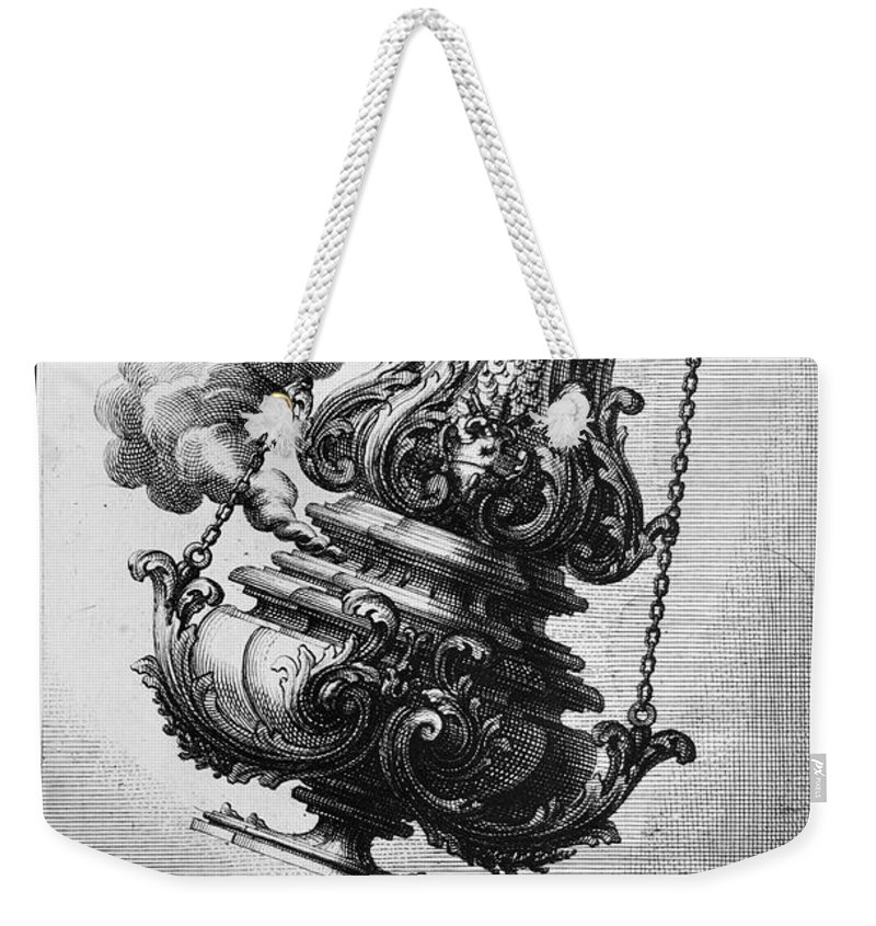 1750 Weekender Tote Bag featuring the photograph Giardini: Censer, C1714 by Granger