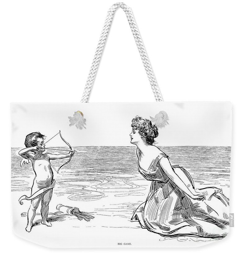 1900 Weekender Tote Bag featuring the photograph Big Game, 1900 by Charles Dana Gibson