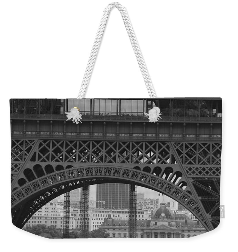 Eiffel Tower Weekender Tote Bag featuring the photograph Gigantic by Eric Tressler