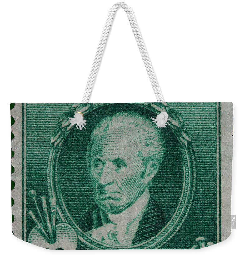 Gilbert Charles Stuart Postage Stamp Weekender Tote Bag featuring the photograph Gilbert Charles Stuart Postage Stamp by James Hill