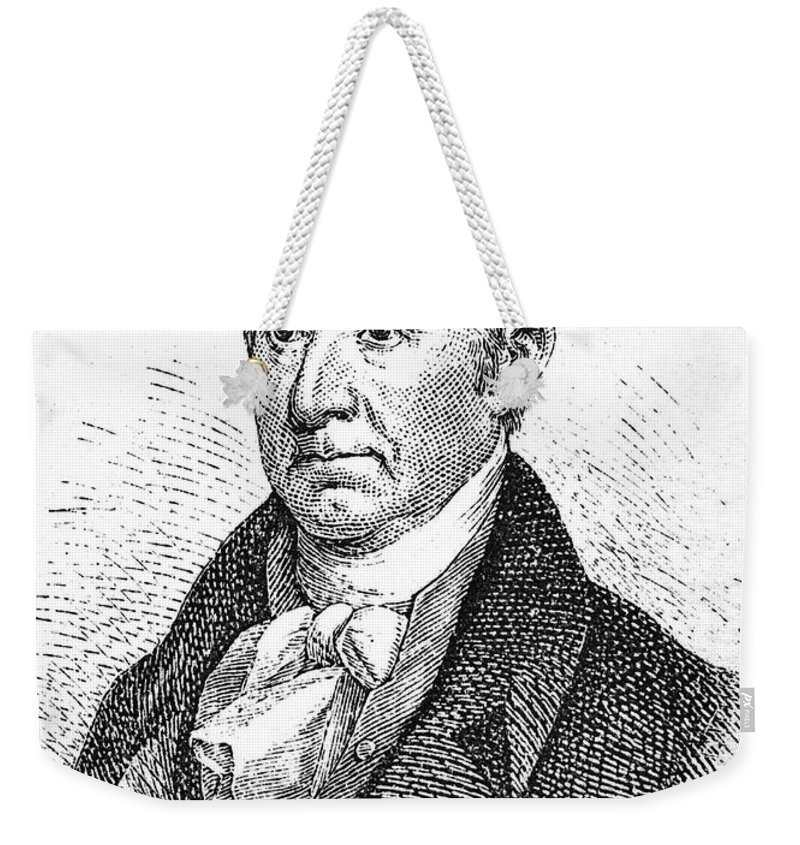 18th Century Weekender Tote Bag featuring the photograph Gilbert Stuart (1755-1828) by Granger