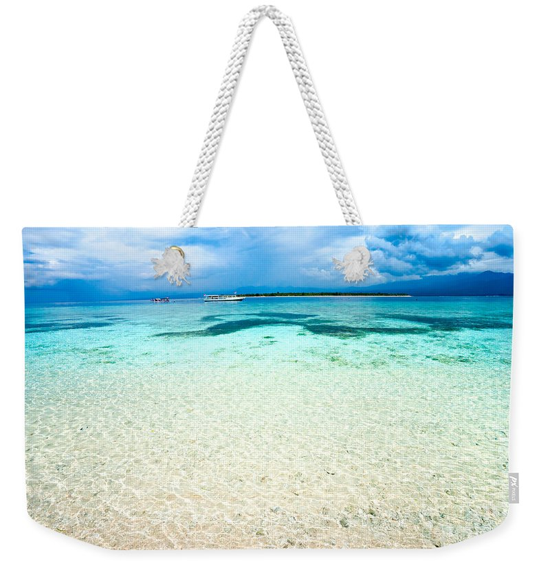 Gili Meno Weekender Tote Bag featuring the photograph Gili Meno - Indonesia. by Luciano Mortula