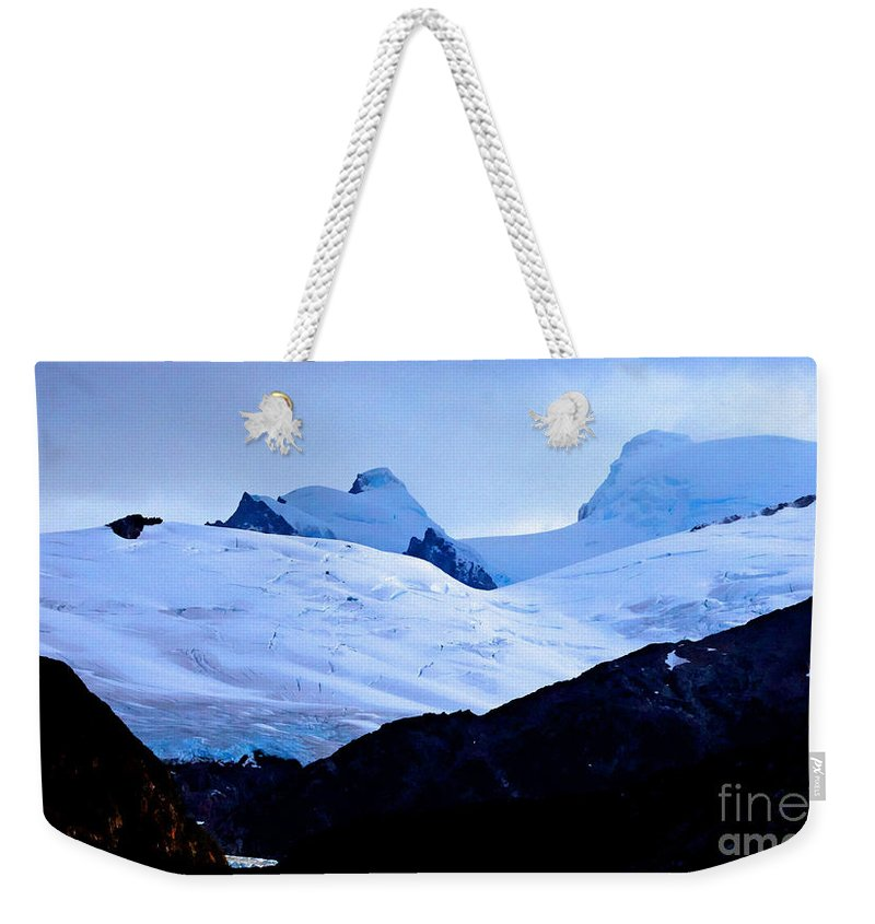 Glacier Weekender Tote Bag featuring the photograph Glacier Cracks by Tap On Photo