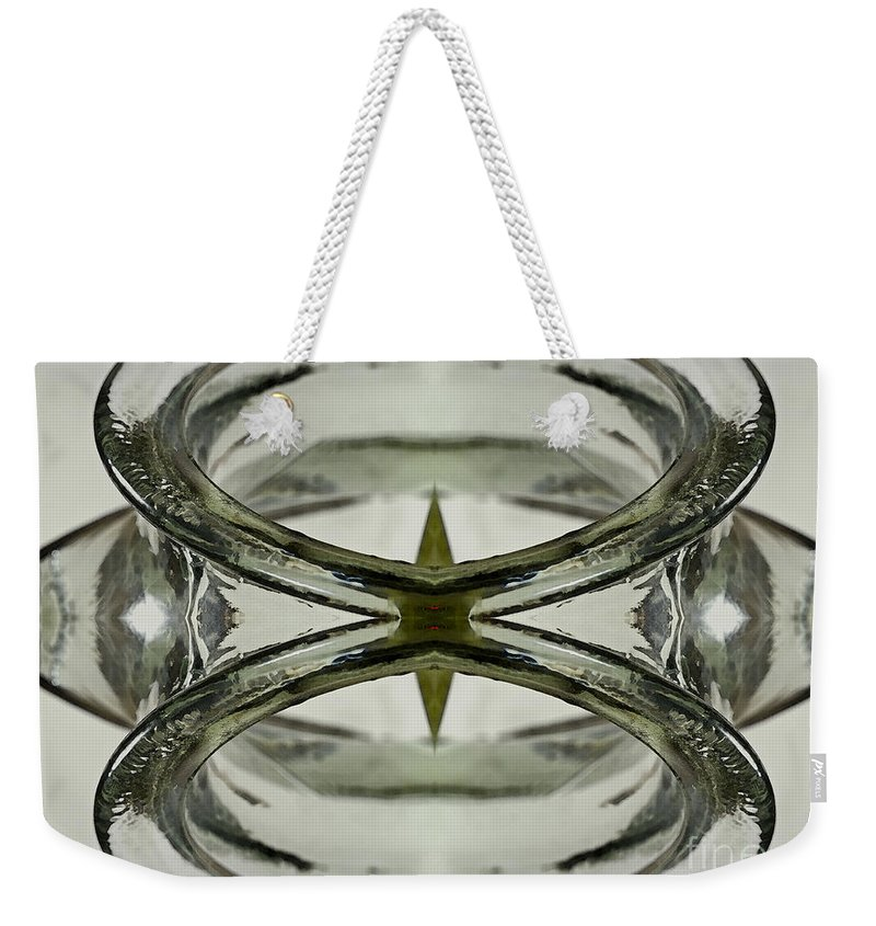 Symmetrical Weekender Tote Bag featuring the photograph Glas Art by Heiko Koehrer-Wagner