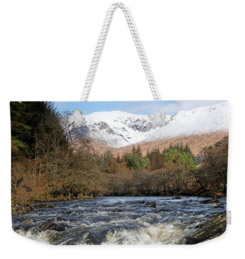Scotland Weekender Tote Bag featuring the digital art Glen Orchy by Pat Speirs