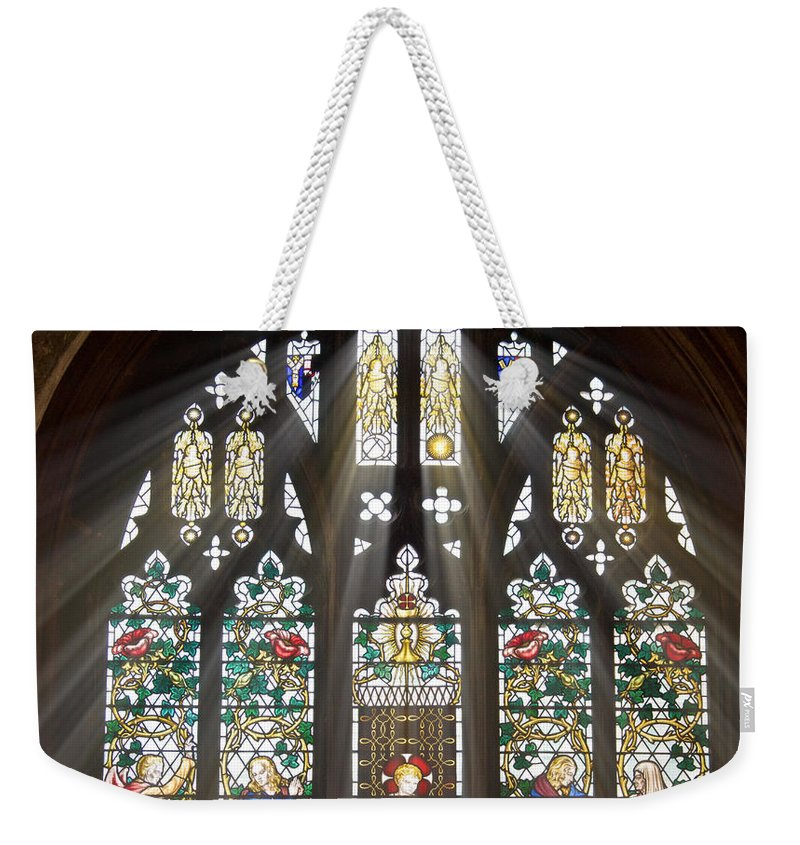 Glorious Weekender Tote Bag featuring the photograph Glorious Rays Of Light by Douglas Barnett