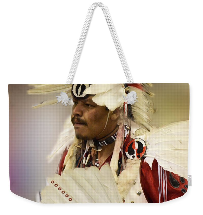 Pow Wow Weekender Tote Bag featuring the photograph Pow Wow Glory Days by Bob Christopher