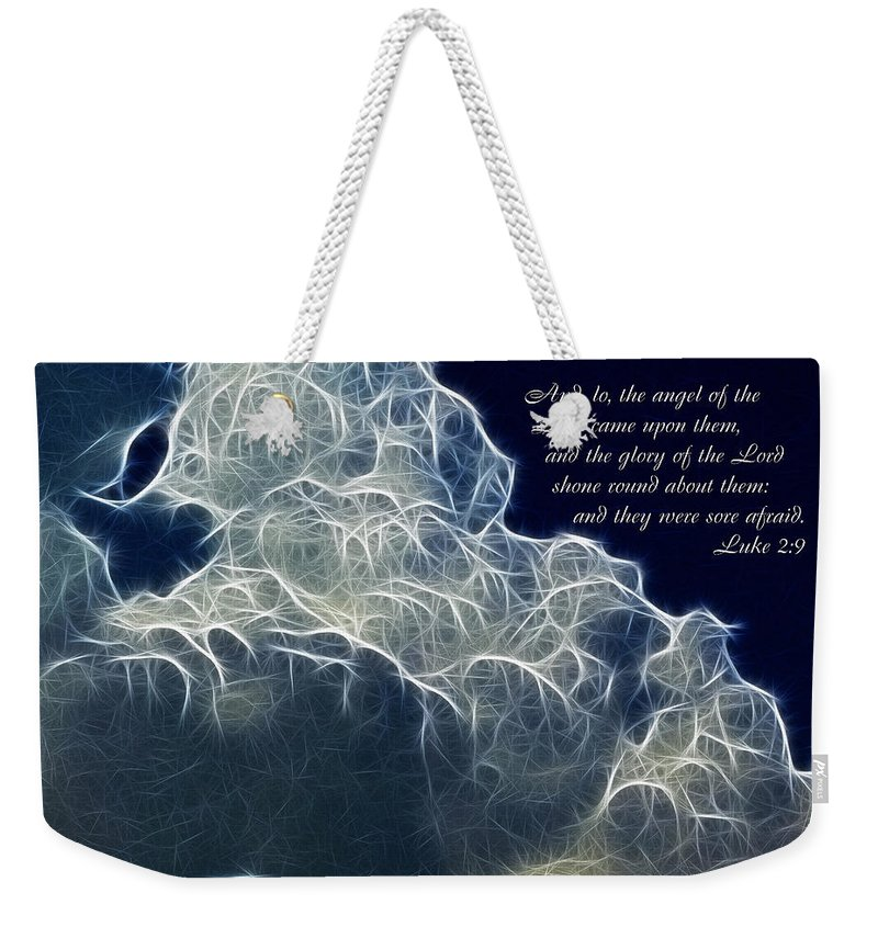 Glory Of The Lord Weekender Tote Bag featuring the painting Glory Of The Lord by Methune Hively