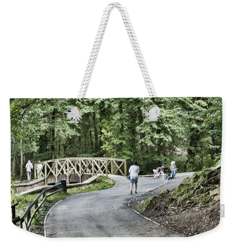 Gnoll Estate Country Park Weekender Tote Bag featuring the photograph Gnoll Country Estate 3 by Steve Purnell