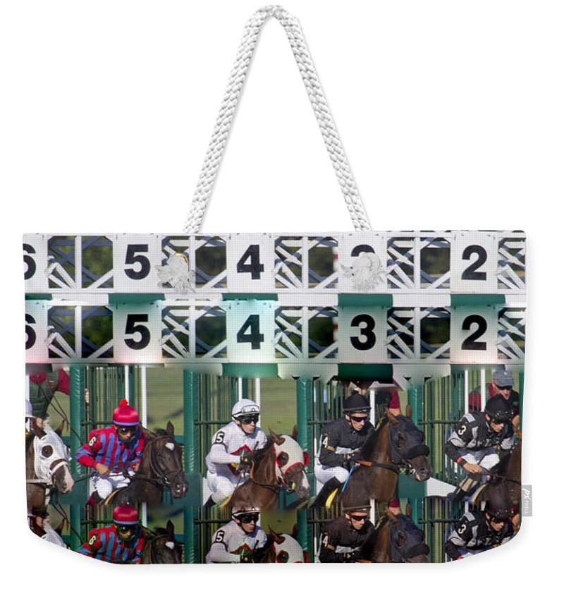 Post Weekender Tote Bag featuring the digital art Go Time by Betsy Knapp