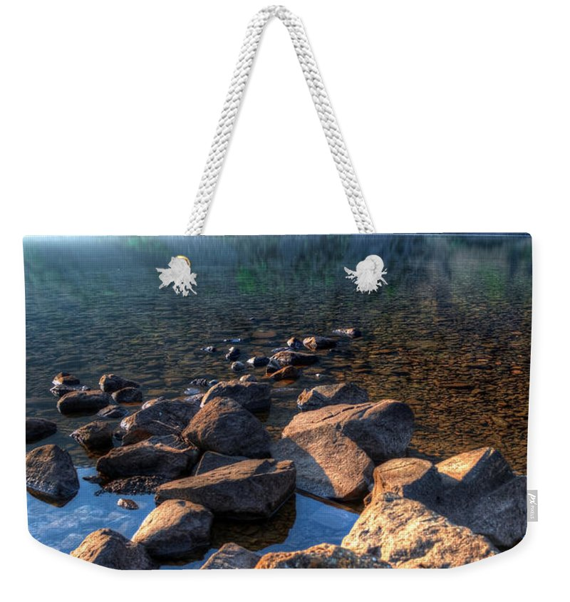 Bay Weekender Tote Bag featuring the photograph Going For A Swim by Svetlana Sewell