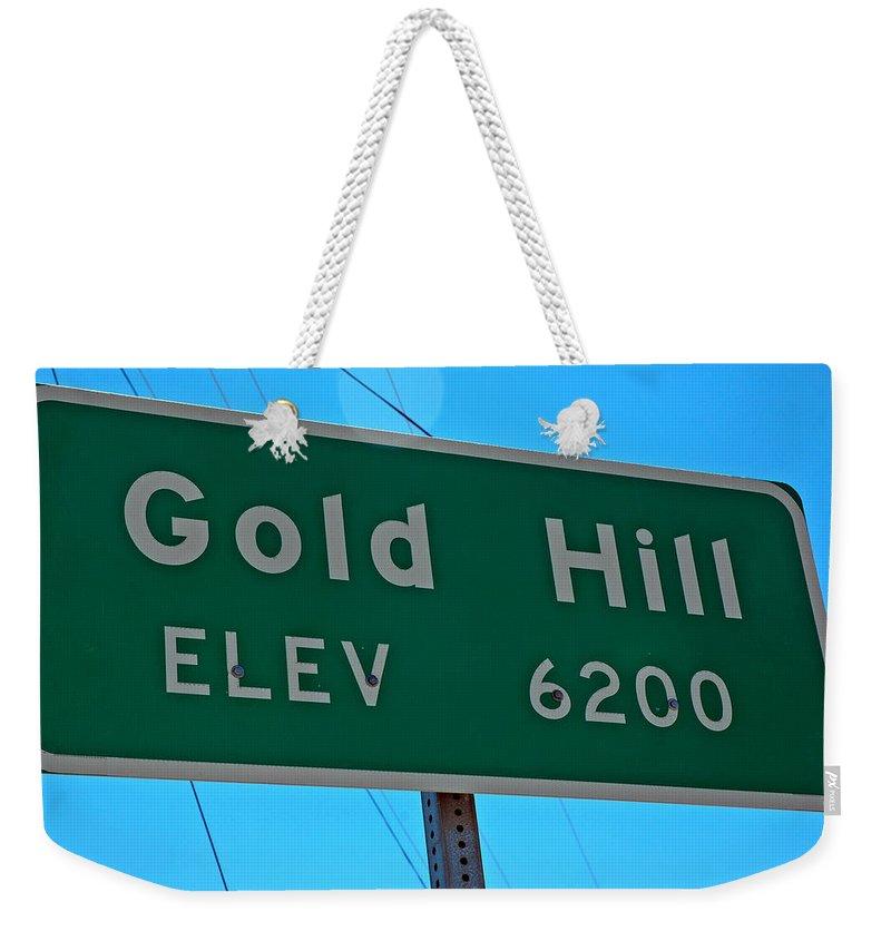 Usa Weekender Tote Bag featuring the photograph Gold Hill by LeeAnn McLaneGoetz McLaneGoetzStudioLLCcom