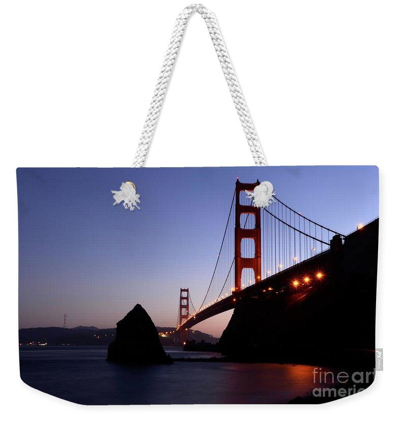 Golden Gate Bridge Weekender Tote Bag featuring the photograph Golden Gate Bridge by Bob Christopher