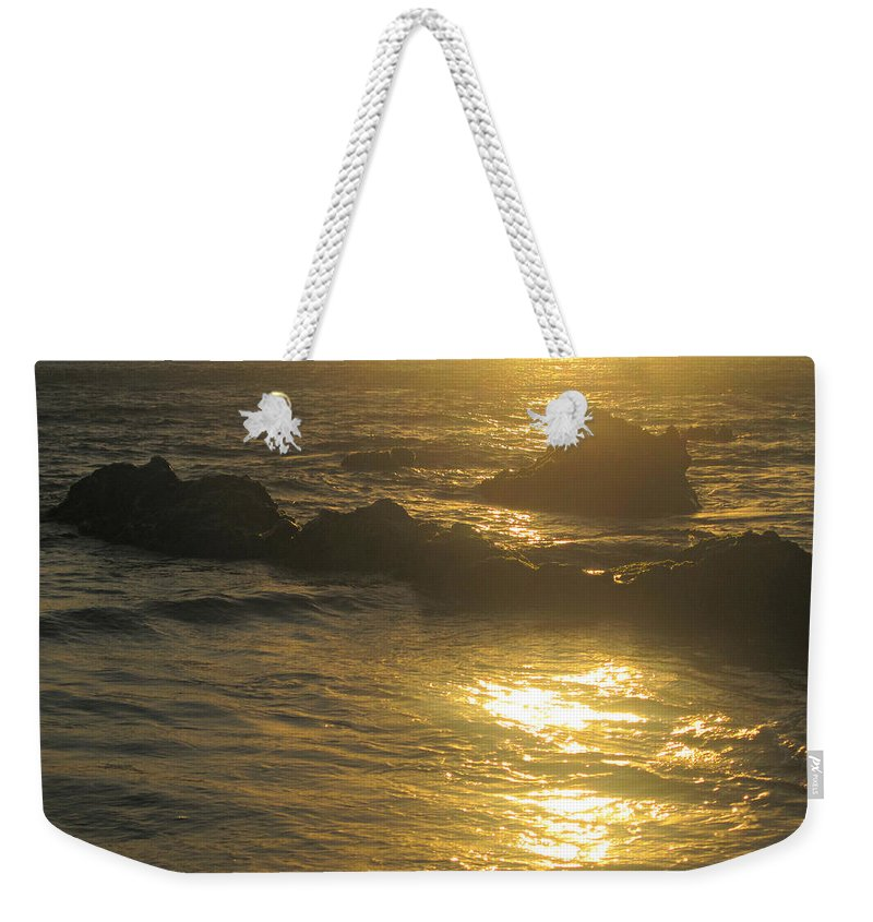 Sunset Weekender Tote Bag featuring the photograph Golden Maui Sunset by Marilyn Wilson