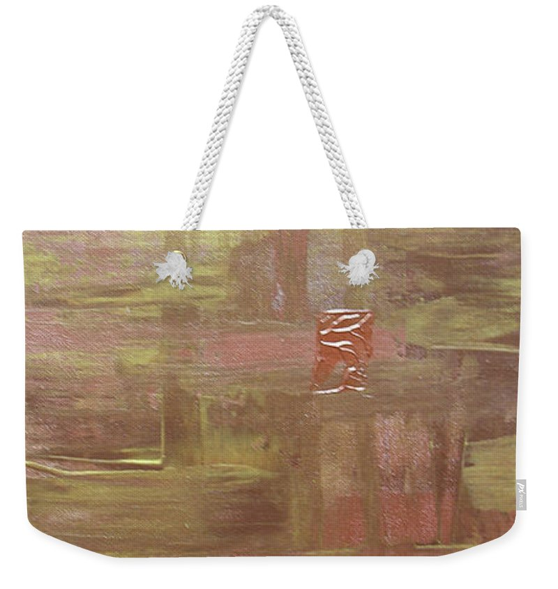 Gold Weekender Tote Bag featuring the painting Golden Touch by Peggy Starks