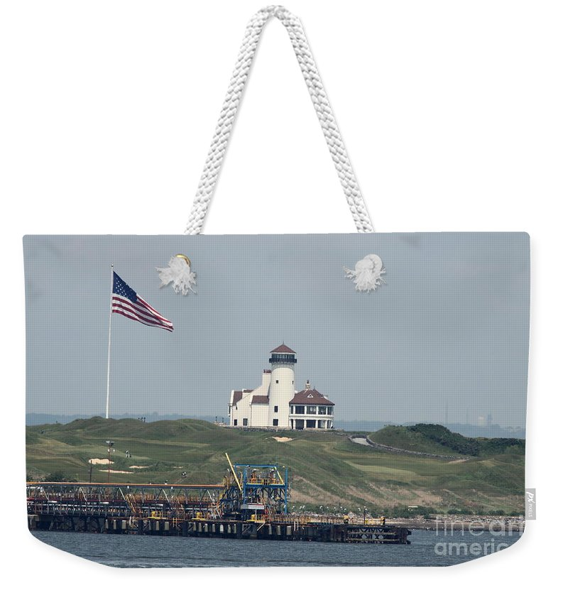 Hudson Weekender Tote Bag featuring the photograph Golf At The Hudson by Christiane Schulze Art And Photography