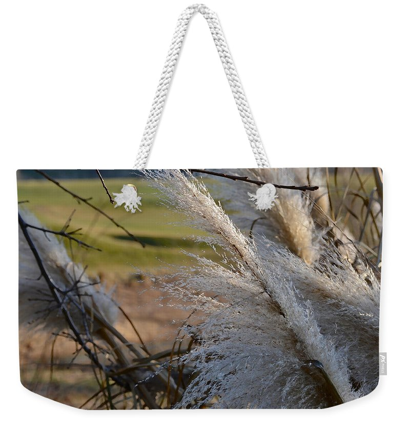 Golf Course Weekender Tote Bag featuring the photograph Golf Course Grasses by Bill Owen