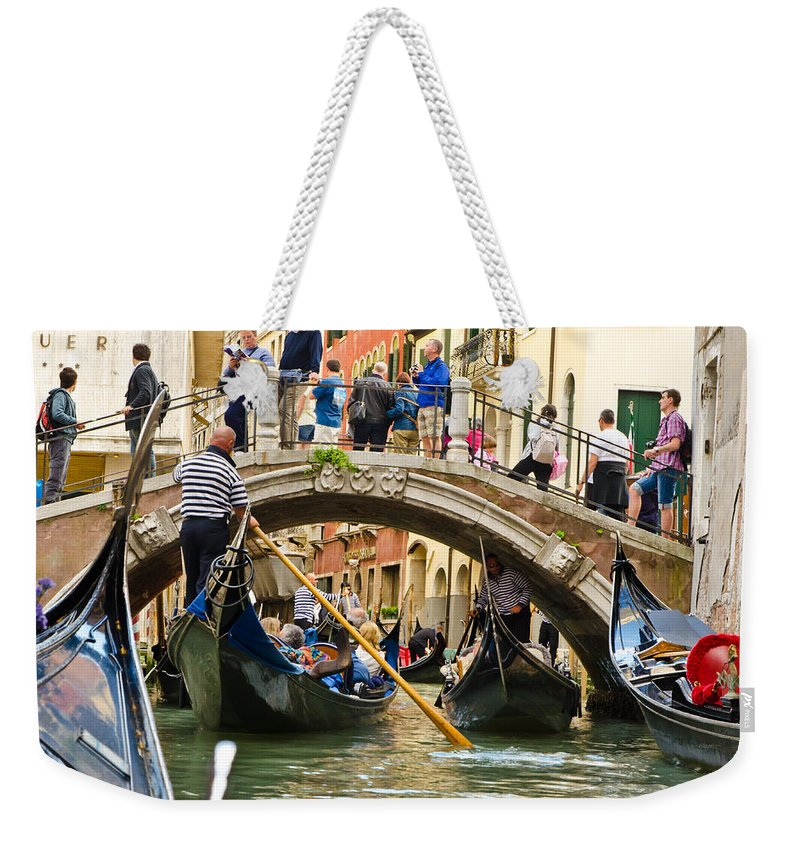 Gondola Weekender Tote Bag featuring the photograph Gondolas Galore by Jon Berghoff