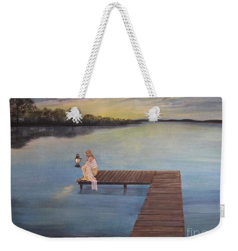 Summer Vacation Weekender Tote Bag featuring the painting Good Morning World by Kris Crollard