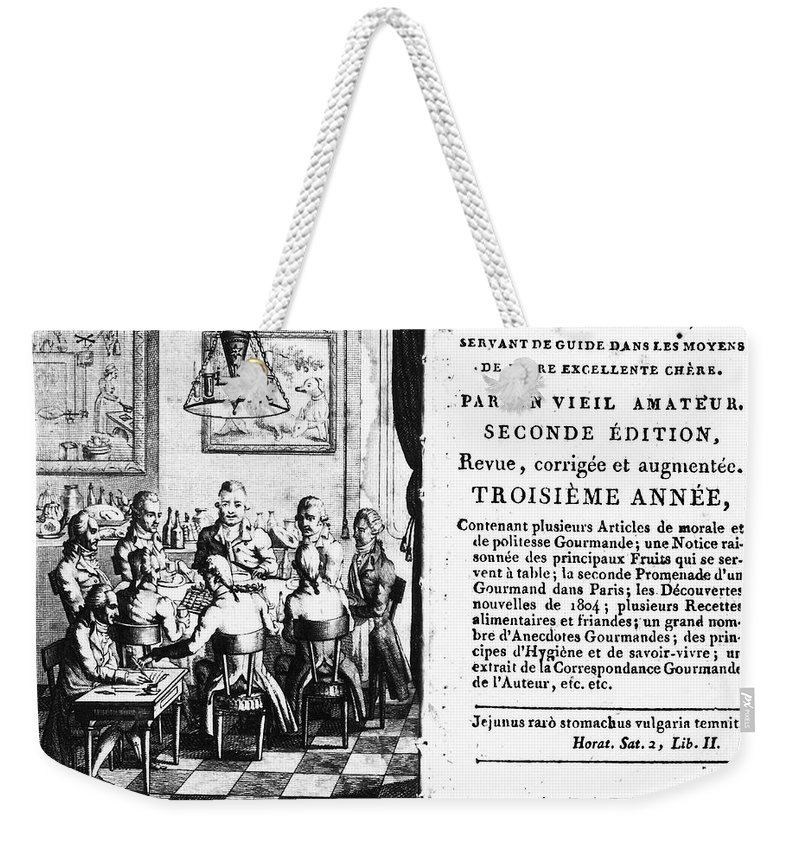 1806 Weekender Tote Bag featuring the photograph Gourmands Almanac, 1806 by Granger