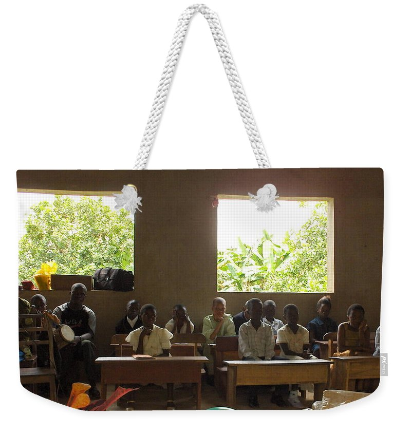 Nigeria Weekender Tote Bag featuring the photograph Graduating by Amy Hosp