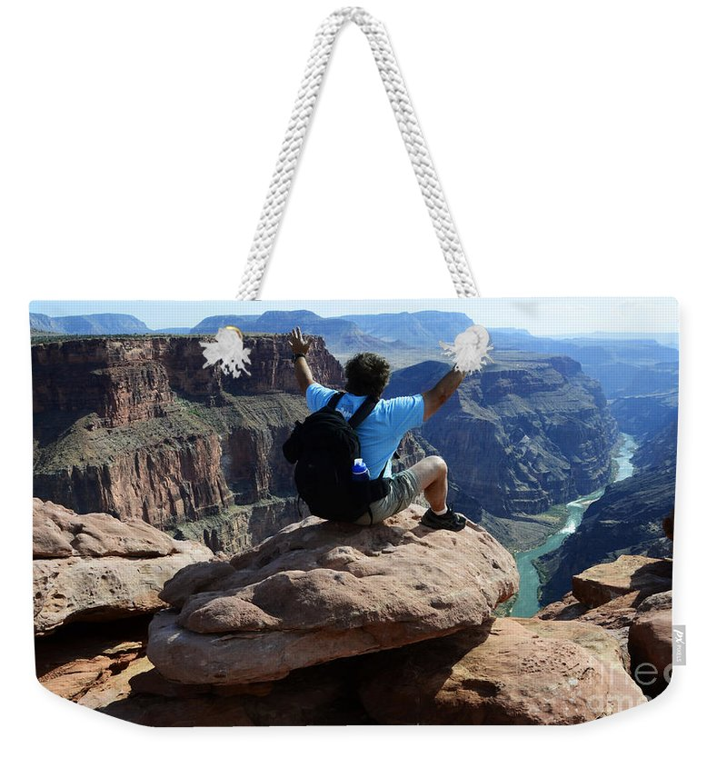 Grand Canyon Weekender Tote Bag featuring the photograph Grand Canyon Feeling All Right by Bob Christopher