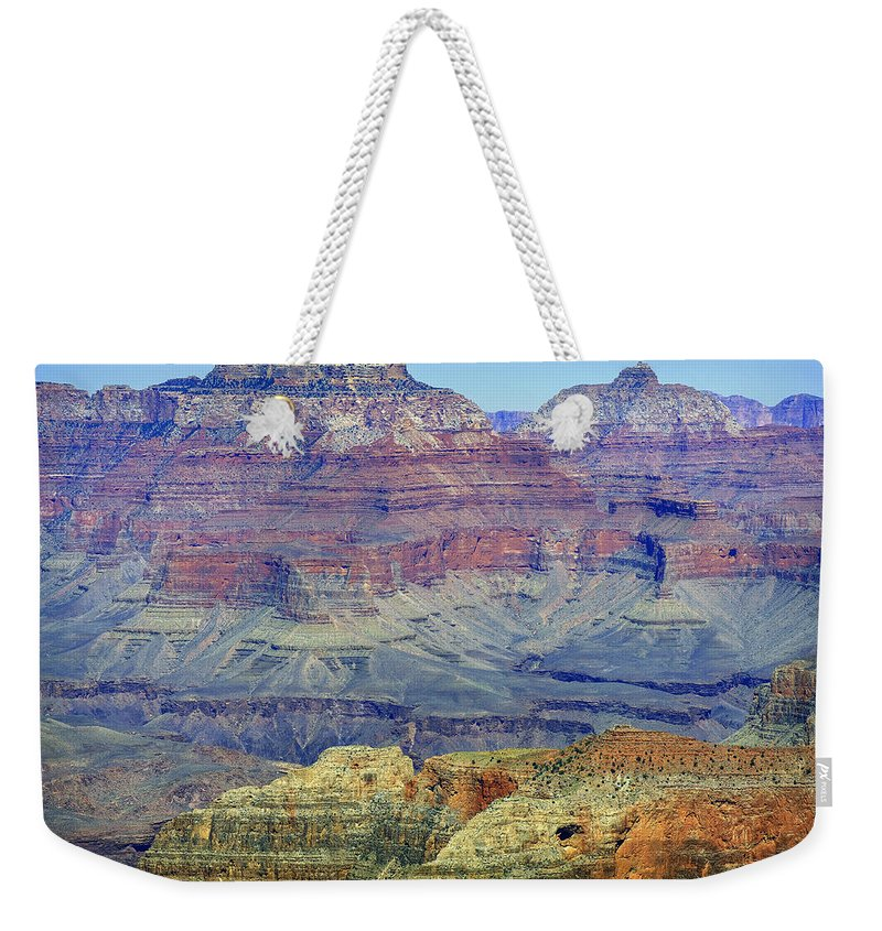 Grand Canyon Weekender Tote Bag featuring the photograph Grand Canyon Landscape II by Julie Niemela