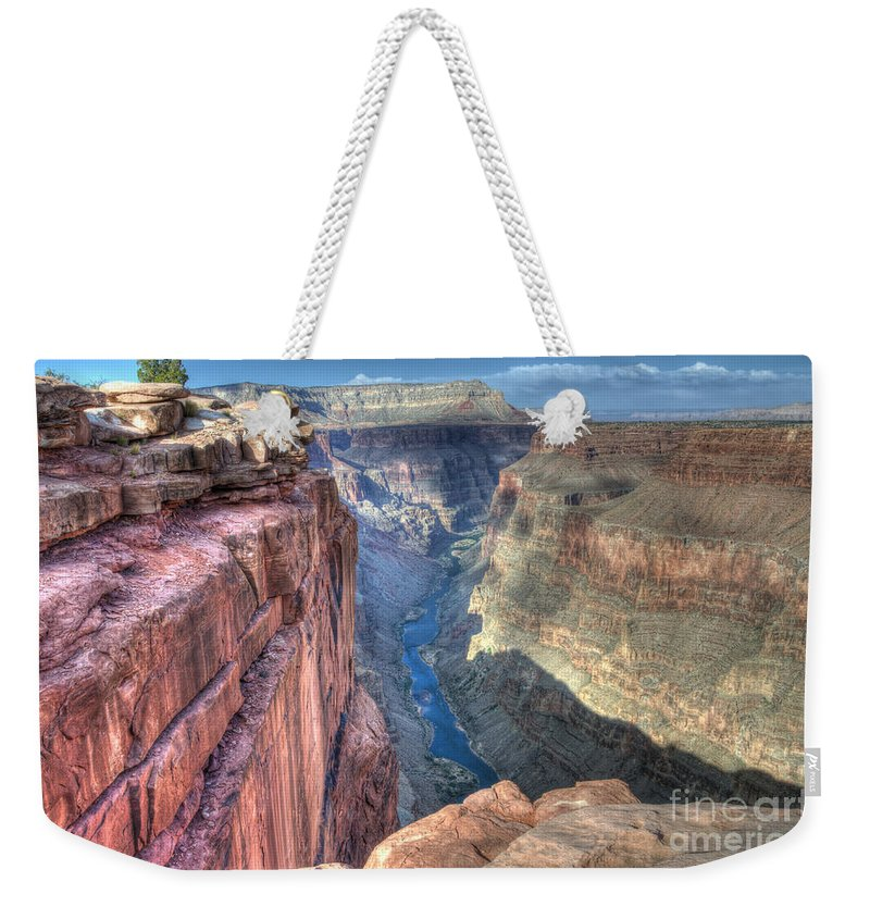 Grand Canyon Weekender Tote Bag featuring the photograph Grand Canyon Toroweap Vista by Bob Christopher