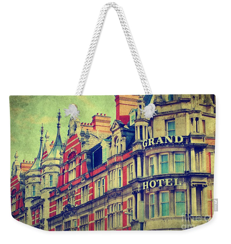 Yhun Suarez Weekender Tote Bag featuring the photograph Grand Hotel by Yhun Suarez