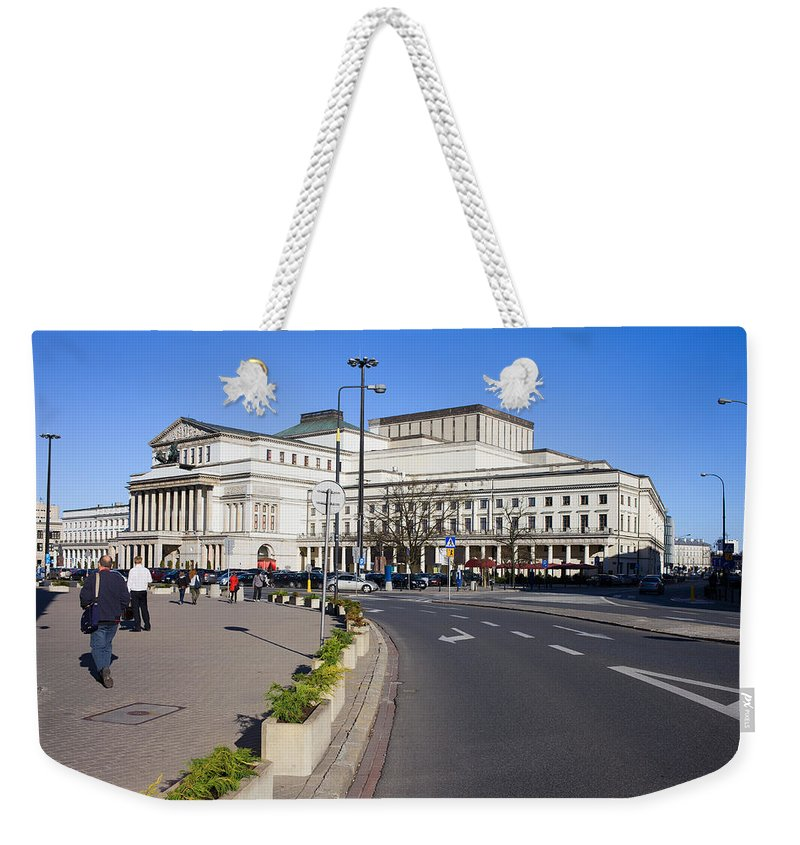 Warsaw Weekender Tote Bag featuring the photograph Grand Theatre In Warsaw by Artur Bogacki