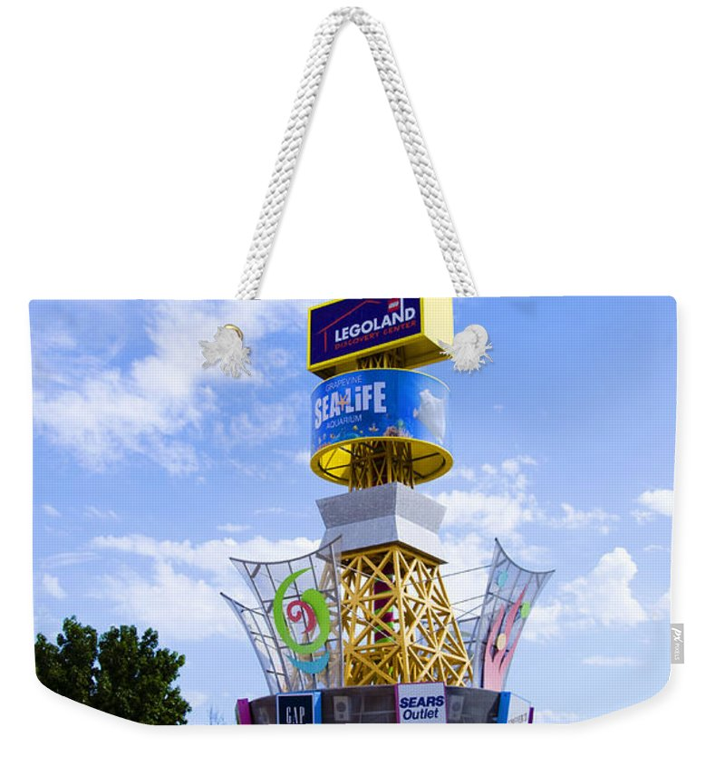 Grapevine Weekender Tote Bag featuring the photograph Grapevine Mills Mall by Ricky Barnard