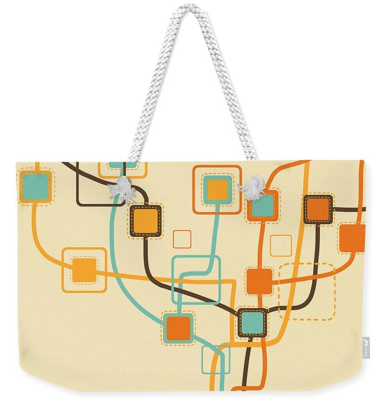Border Weekender Tote Bags